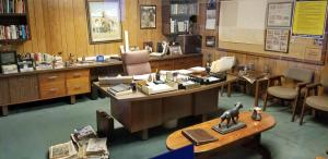 Sam Walton's office was meticulously dismantled and preserved and then reconstructed in the museum.