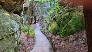 Stone pathway through Rock City Gardens